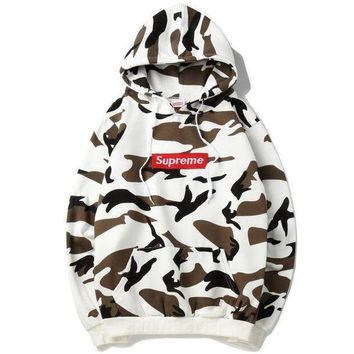 Supreme Fashion Fresh Camouflage Tops Hoodie Sweater