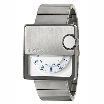Nixon A074100 Men's Murf White Rotating Dial Stainless Steel Watch