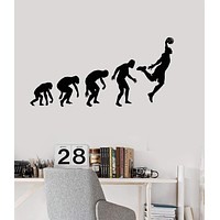 Vinyl Wall Decal Evolution Basketball Player Teen Room Stickers Unique Gift (ig3836)