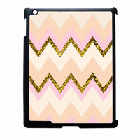 Gold Pink Chevron iPad 3 Case