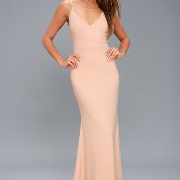 Infinite Glory Blush Pink Maxi Dress