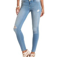 "Refuge ""Skin Tight Legging"" Light Wash Jeans - Lt Wash Denim"