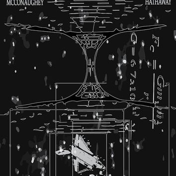 Interstellar Poster - Tesseract & Wormhole Illustration