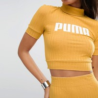 Puma Exclusive To ASOS Ribbed Crop Top at asos.com