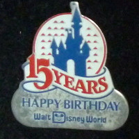 Happy Birthday Walt Disney World 15 Years Pin