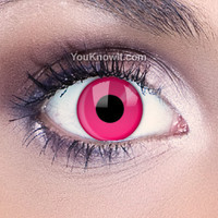 Costume Contact Lenses | Funky Eyes Pink UV Contact Lenses