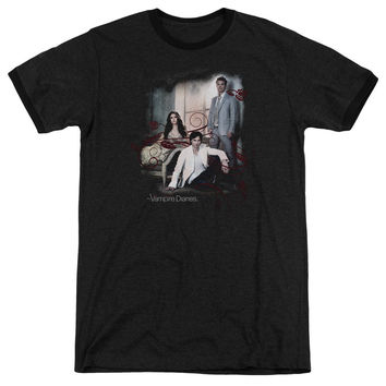 Vampire Diaries 3 + 1 Black Ringer T-Shirt