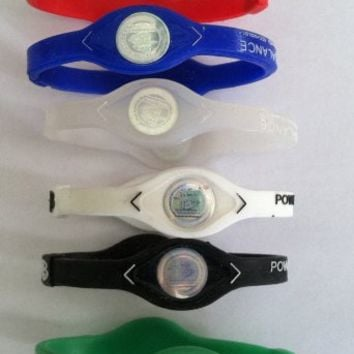 1 Dozen-Power Balance-Ion Titanium Baseball/Sports Power Bands-CLOSEOUT PRICE