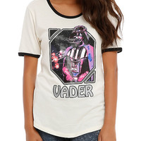Star Wars Darth Vader Glitter Girls Ringer T-Shirt