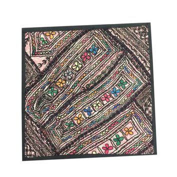 "Mogul Indian Pillow Cover Wall Hanging Patchwork Sari Tapestry Wall Décor ""18x18"" - Walmart.com"