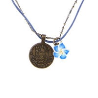 Disney Lilo & Stitch Stitch Hibiscus Chain & Cord Necklace