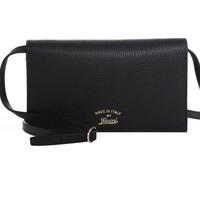 Gucci Women's Black Swing Wallet Crossbody 368231
