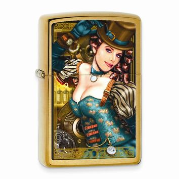 Zippo Industrial Machinery Brushed Brass Lighter