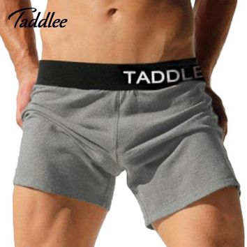 Taddlee Brand Sexy Men Underwear Cotton Trunks Running Sports Running Shorts Jogger Mens Boxers Gay Sweatpants Big Elastic Size