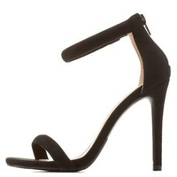 Black Ankle Strap Dress Sandals by Charlotte Russe