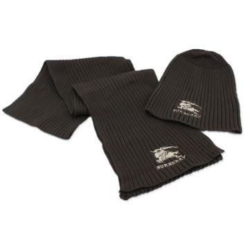 Burberry Fashion Beanies Knit Winter Hat Cap Scarf Scarves Set Two-Piece