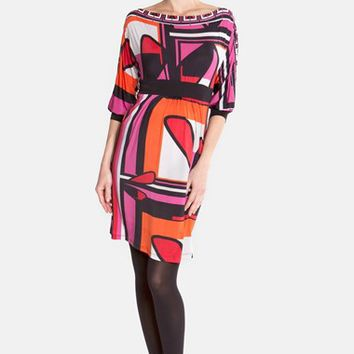 Women's Olian Print Jersey Maternity Dress,