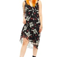 Vintage 90's Butterfly Zone Midi Dress - XS/S/M