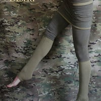 Skirted leggings with pockets in bamboo eco fleece