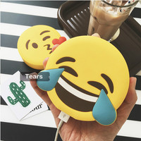 2600mAh Power Bank Originality Powerbank 2600mah Emoji Mobile Power for iPhone iPad LG Charger Treasure Soft Cartoon Power Bank