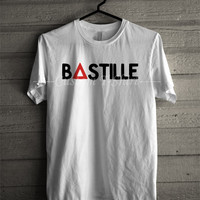 Bastille red triangle music tshirt -tri1 Unisex T- Shirt For Man And Woman / T-Shirt / Custom T-Shirt