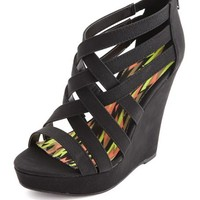 CAGED ZIP BACK WEDGE