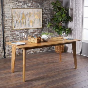 Nanture Natural Finished Mango Wood Dining Table