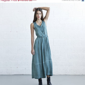 valentines day SALE Maxi Dress- Washed Green Color