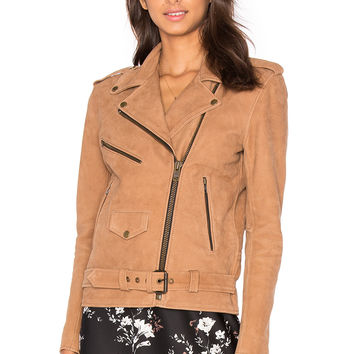 Understated Leather Easy Rider Jacket in Nubuck | REVOLVE