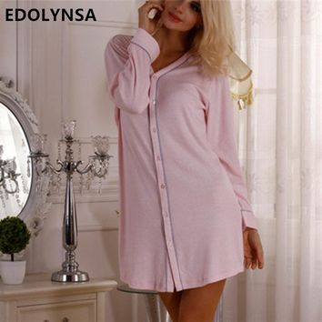 Brand Cotton Robe Sexy Sleepwear Bathrobe Women Kimono Dressing Gown Nightgown Lingerie Camisola Black Pink #Q15