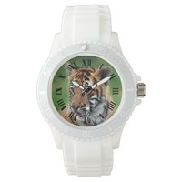 A cute baby tiger wrist watches