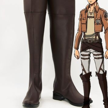 Cool Attack on Titan Custom made Ellen Jager shoes boots from  Cosplay AT_90_11