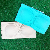 STRAPLESS PADDED BANDEAU