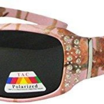 Womens Sunglasses Pink Camo with Rhinestones