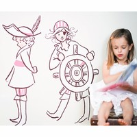 Girl Pirates Wall Decals