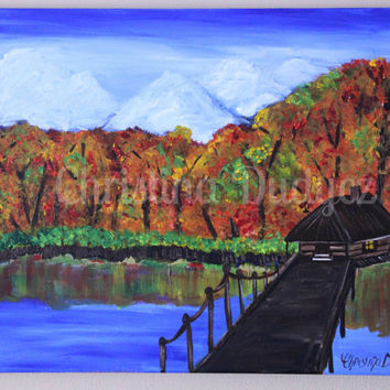 Fall Landscape, Painting, Canvas Art, Autumn Landscape painting