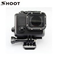 Black Underwater Waterproof Housing Case Cover For Gopro Hero 3+ 3 4 Sports Camera Go pro accessories