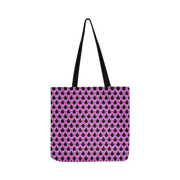 Breast Cancer Awareness Pink Ribbon Reusable/Water Resistant Shopping Bags (10 styles)