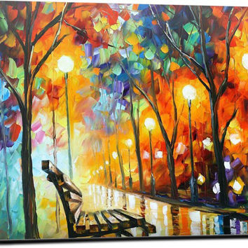 THE LONELINESS OF AUTUMN by Leonid Afremov Laptop Skin