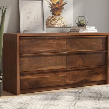 Posner 6 Drawer Double Dresser