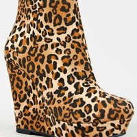 Delicious DOLLY Basic Platform Wedge Heel Ankle Boot Bootie