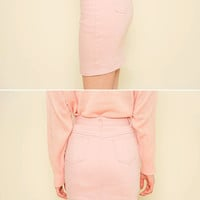 Pocket-Side Mini Pencil Skirt