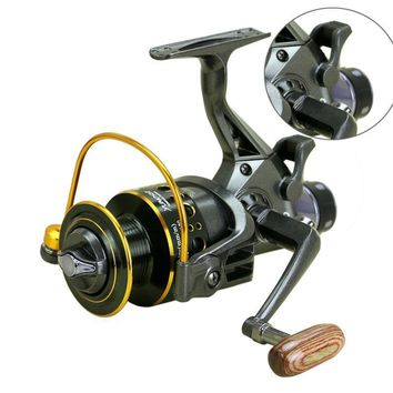 Double Brake Front and Rear Drag Reels Fishing Feeder Spinning Tackle Rod Combo