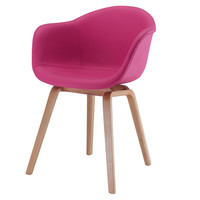 Chair In Pink Vegan Leather (Set Of Two)