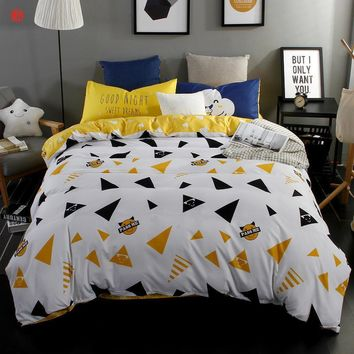 Home textile Summer Bedding set king duvet cover set queen bed sheet modern AB side adult bed set bedcloth Twin Full five size