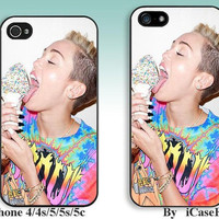 miley cyrus--iPhone5 Case, iPhone 4 case, iphone 4s case,iPhone 5C Case, iPhone5s Case, iPhone Case, iphone cover,phone case