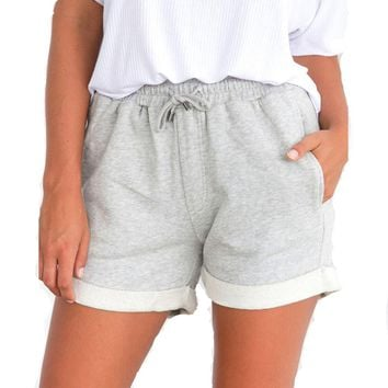 Women's High Waist Loose Shorts