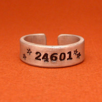 Les Miserables Inspired - 24601 - A Hand Stamped Aluminum Ring