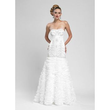 The Classic Frilly Strapless Wedding Gown by Sue Wong