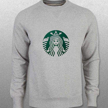 Starbuck Little Mermaid sweater Gray Sweatshirt Crewneck Men or Women Unisex Size with variant colour